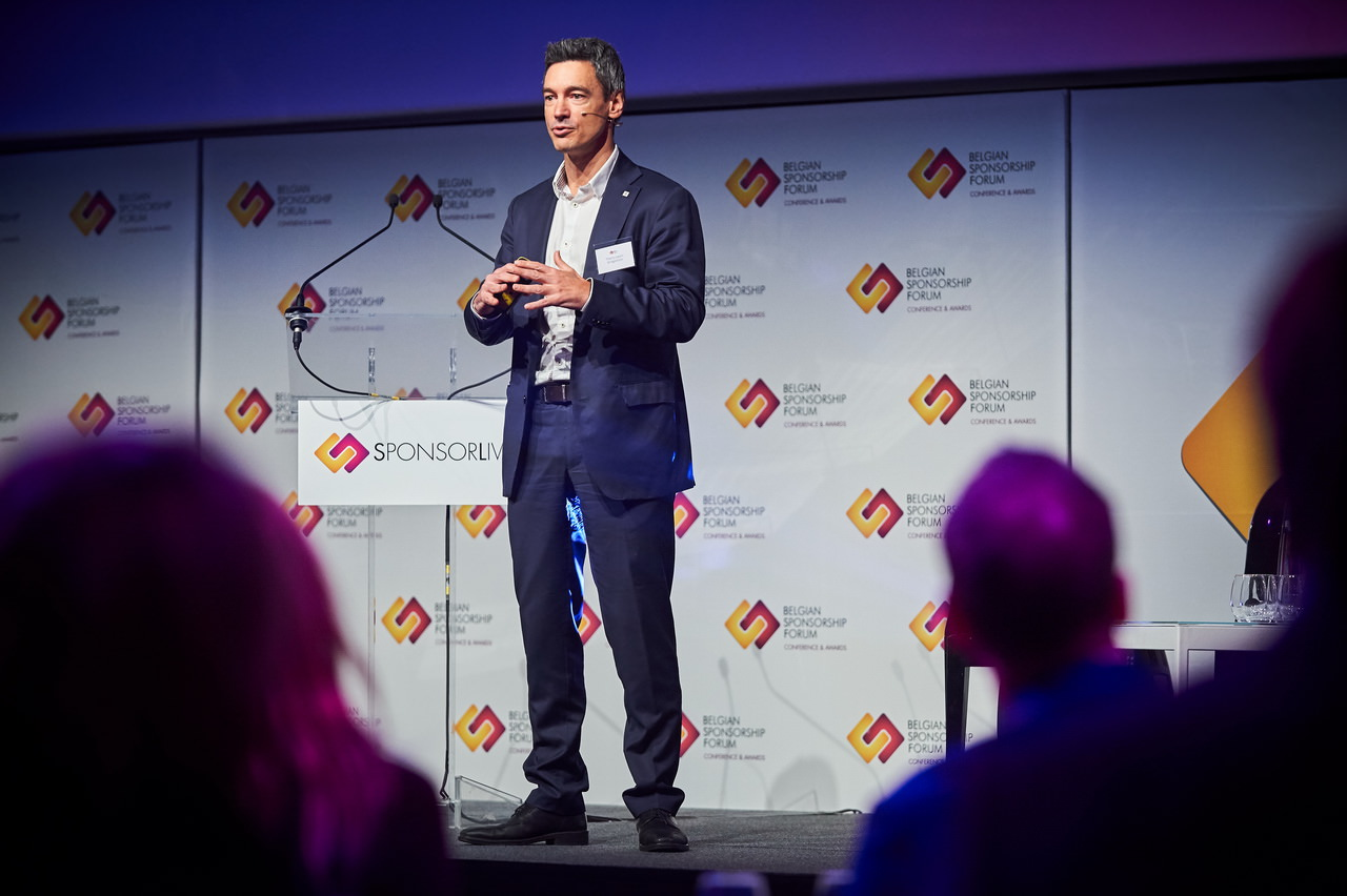 Speaker during Sponsorlive in 2018