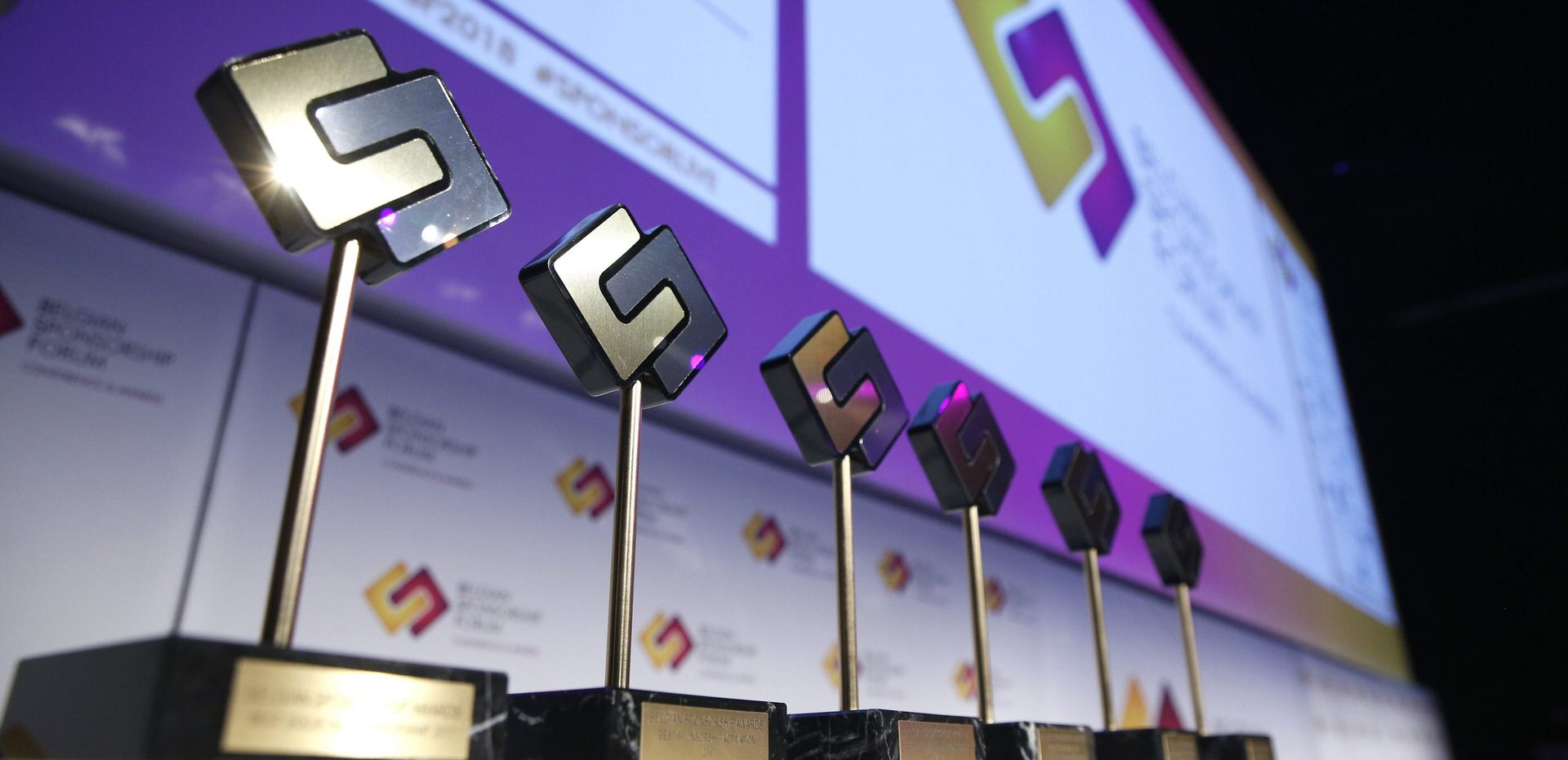 Trophies of Belgian Sponsorship Awards