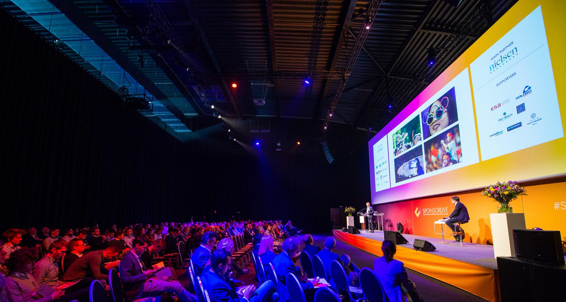 Stage view of SponsorLive during the conference