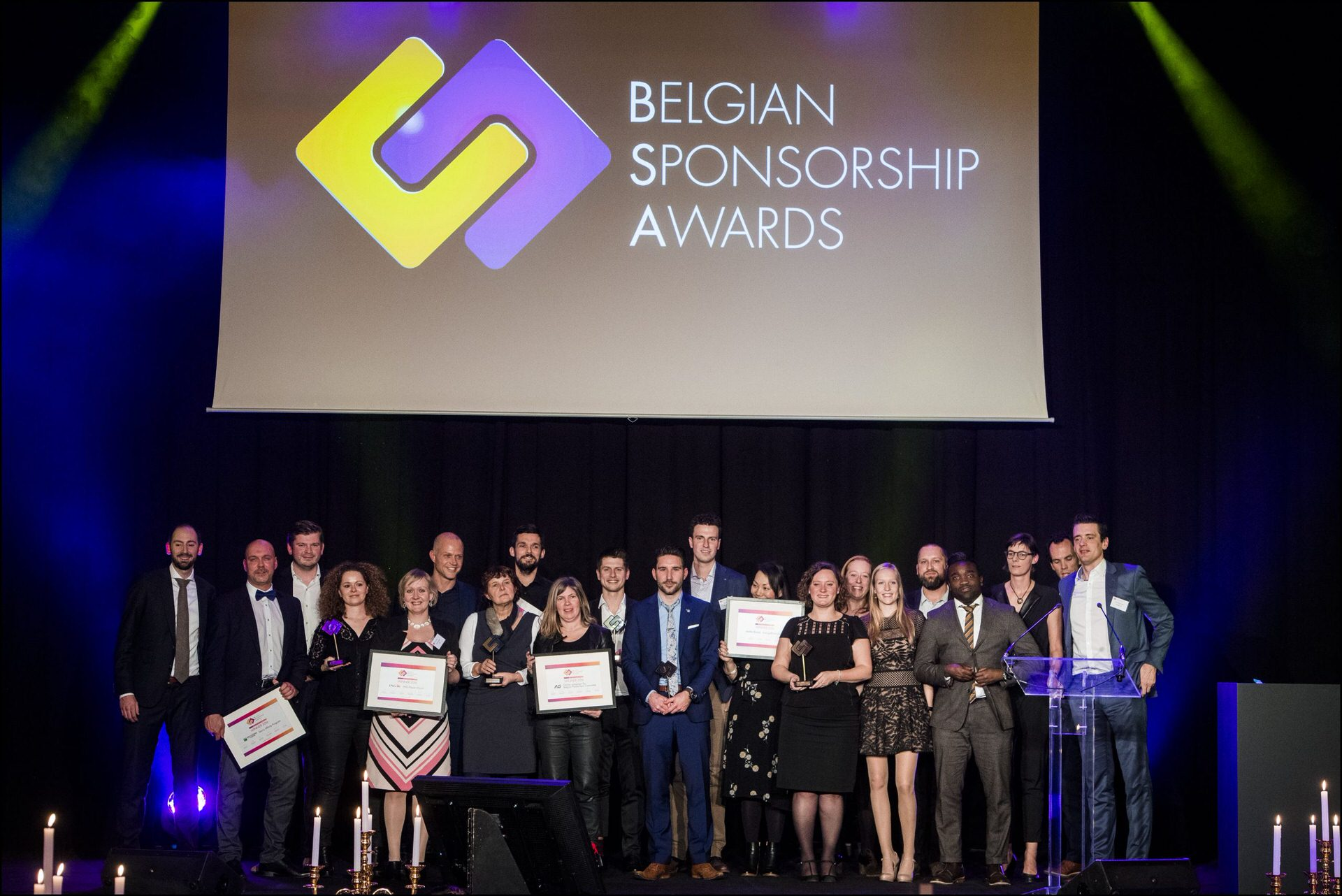 Winners of Belgian Sponsorship Awards 2017